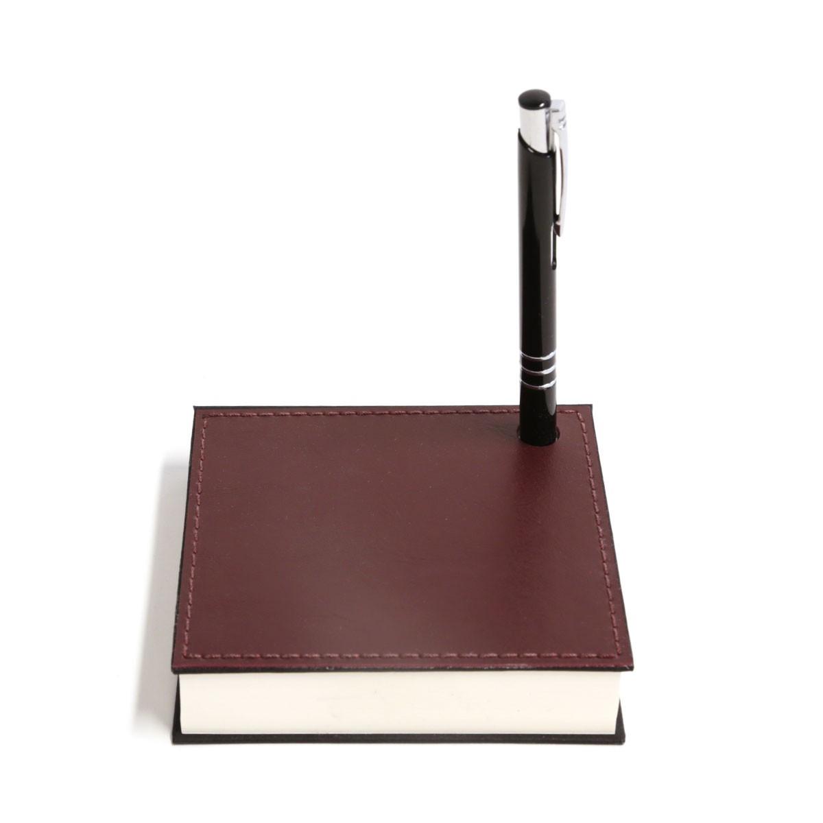 Mini bloco com caneta (Montana Bordô)