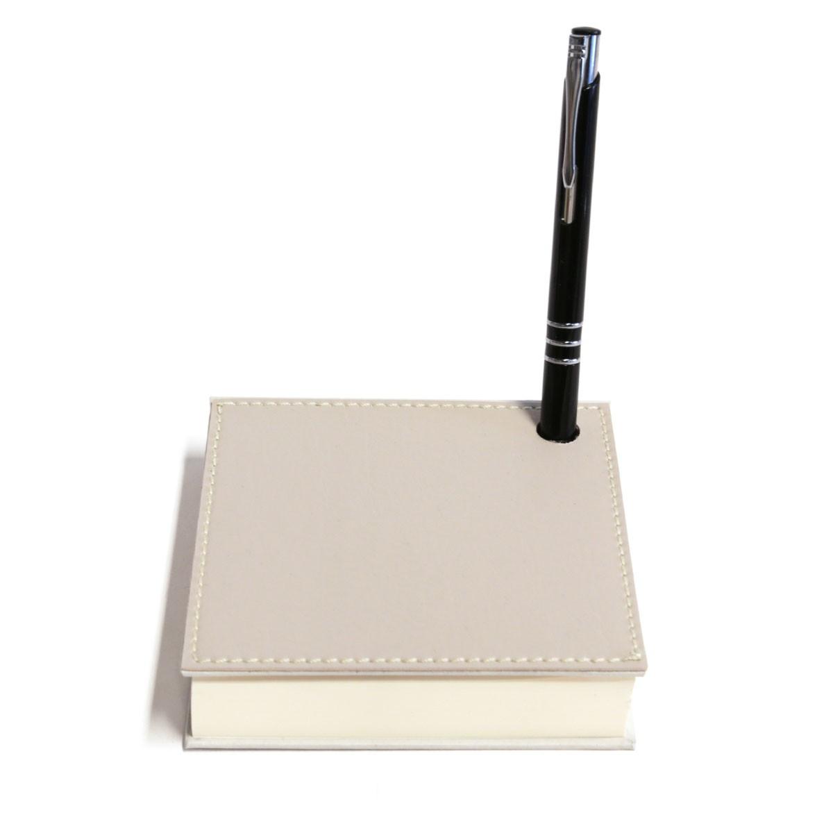 Mini bloco com caneta (Montana Gelo)