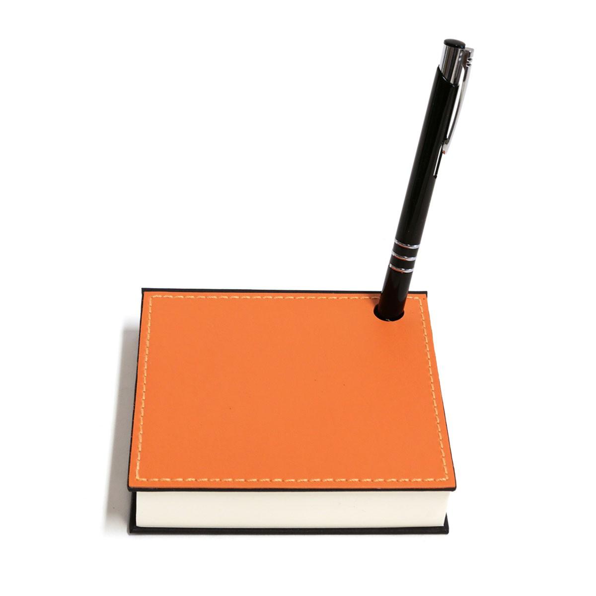 Mini bloco com caneta (Montana Laranja)