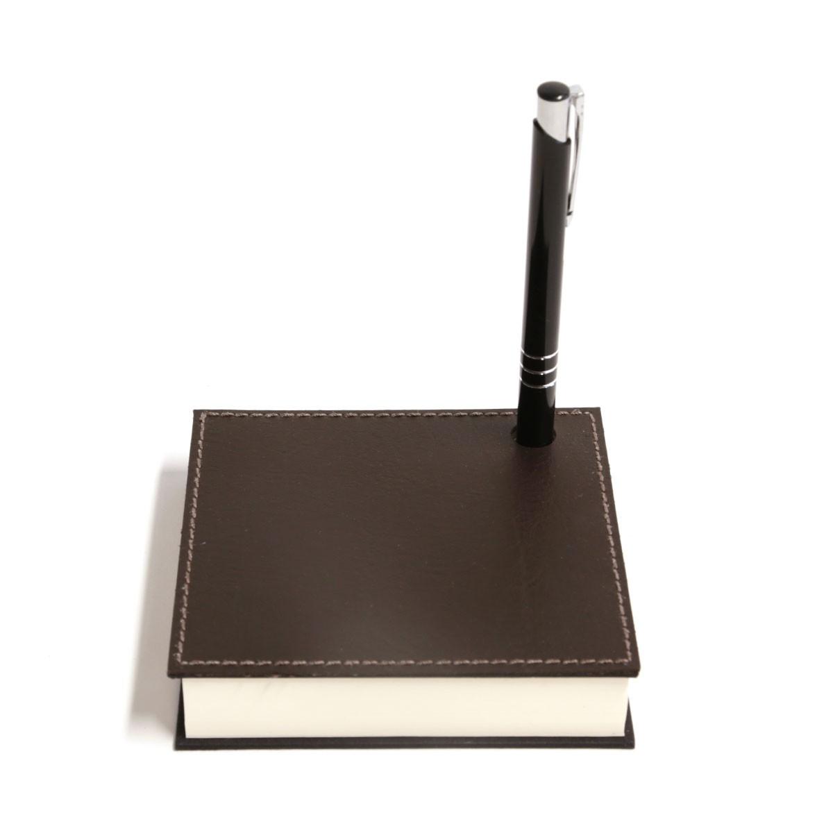 Mini bloco com caneta (Montana Marrom)