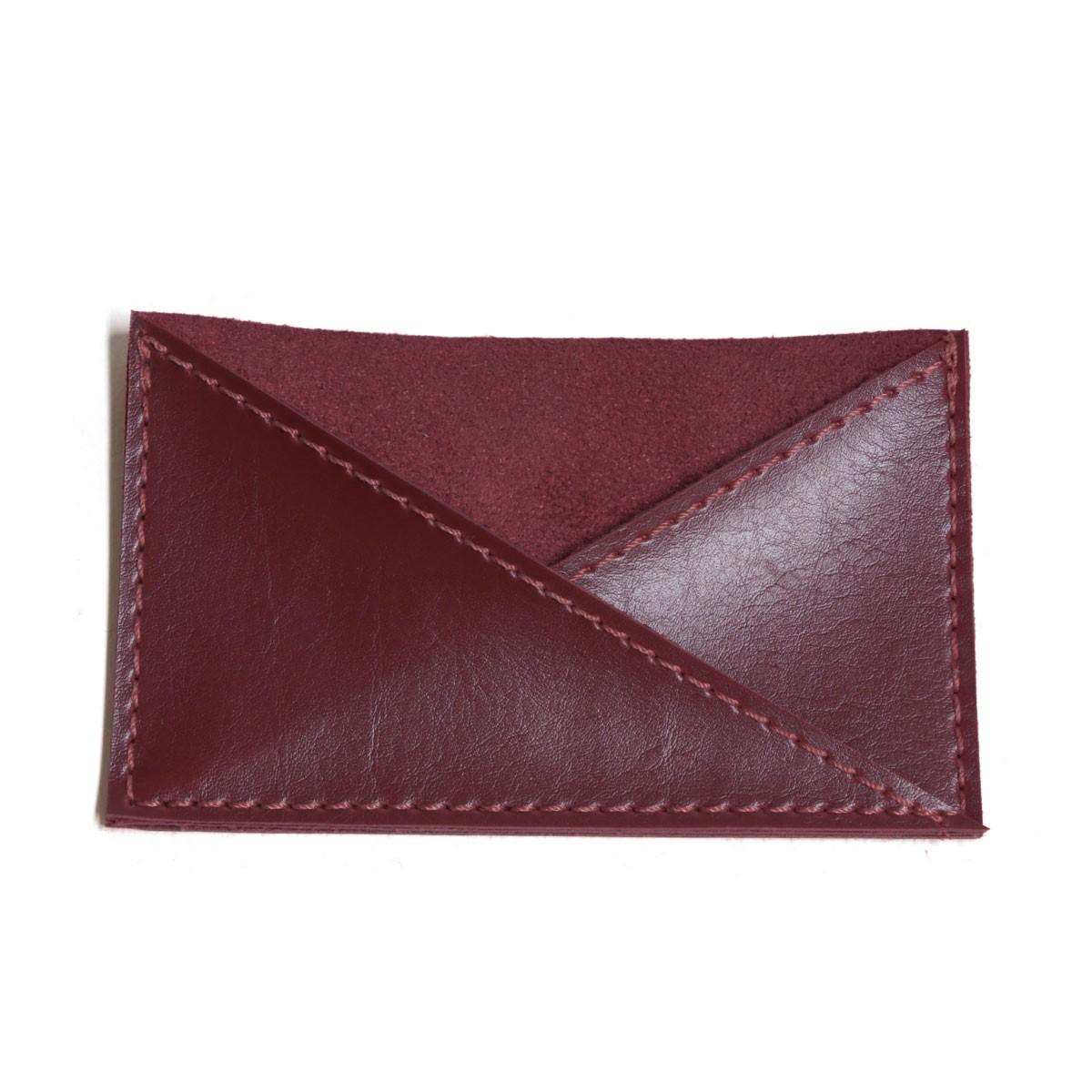 Porta cartão de bolso (Montana Bordô)