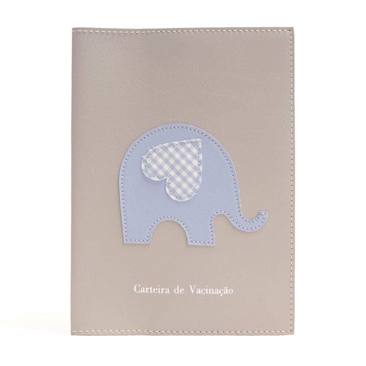 Porta carteira de vacinação (Elefante Azul)