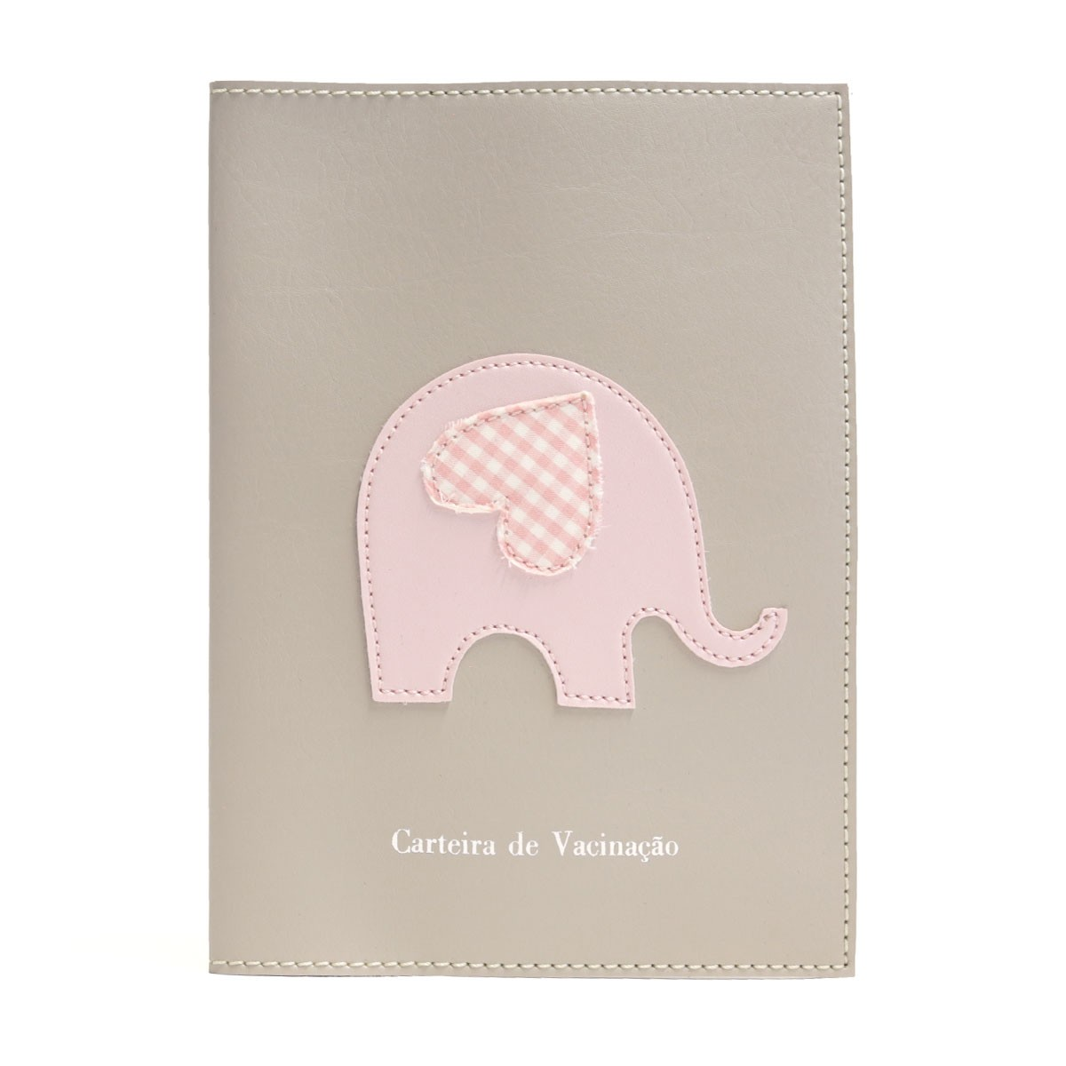 Porta carteira de vacinação (Elefante Rosa)