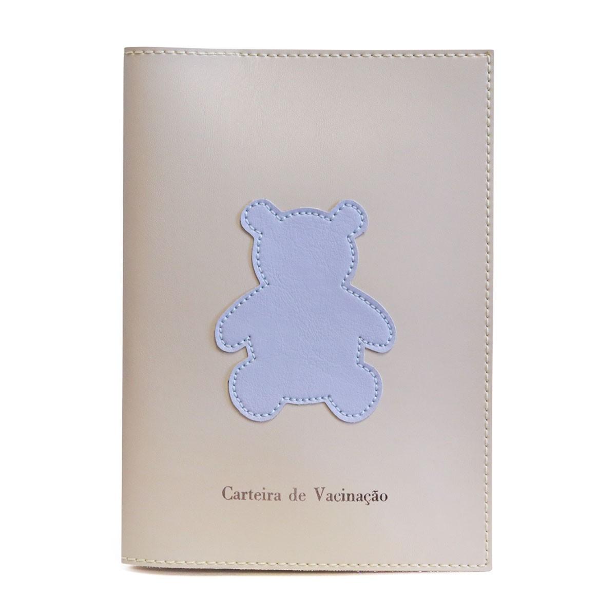 Porta carteira de vacinação (Urso Azul)