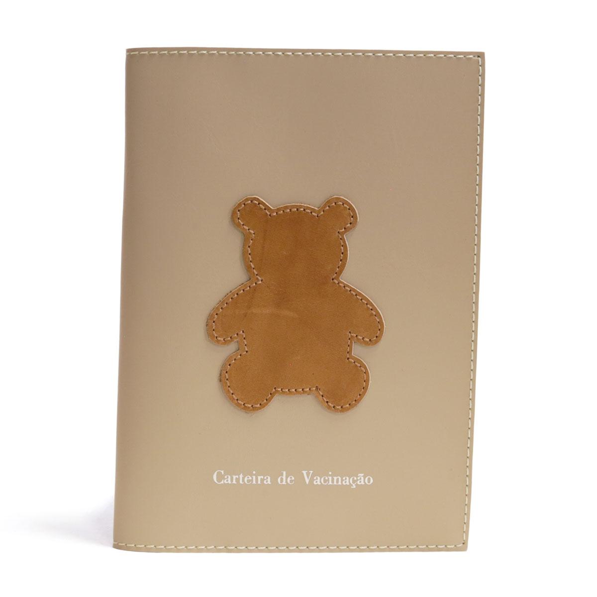 Porta carteira de vacinação (Urso Caramelo)