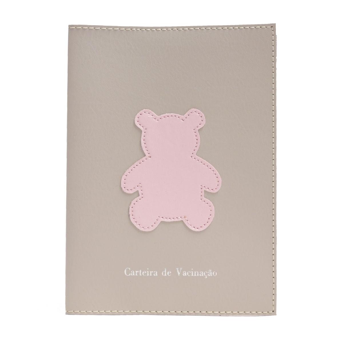Porta carteira de vacinação (Urso Rosa)