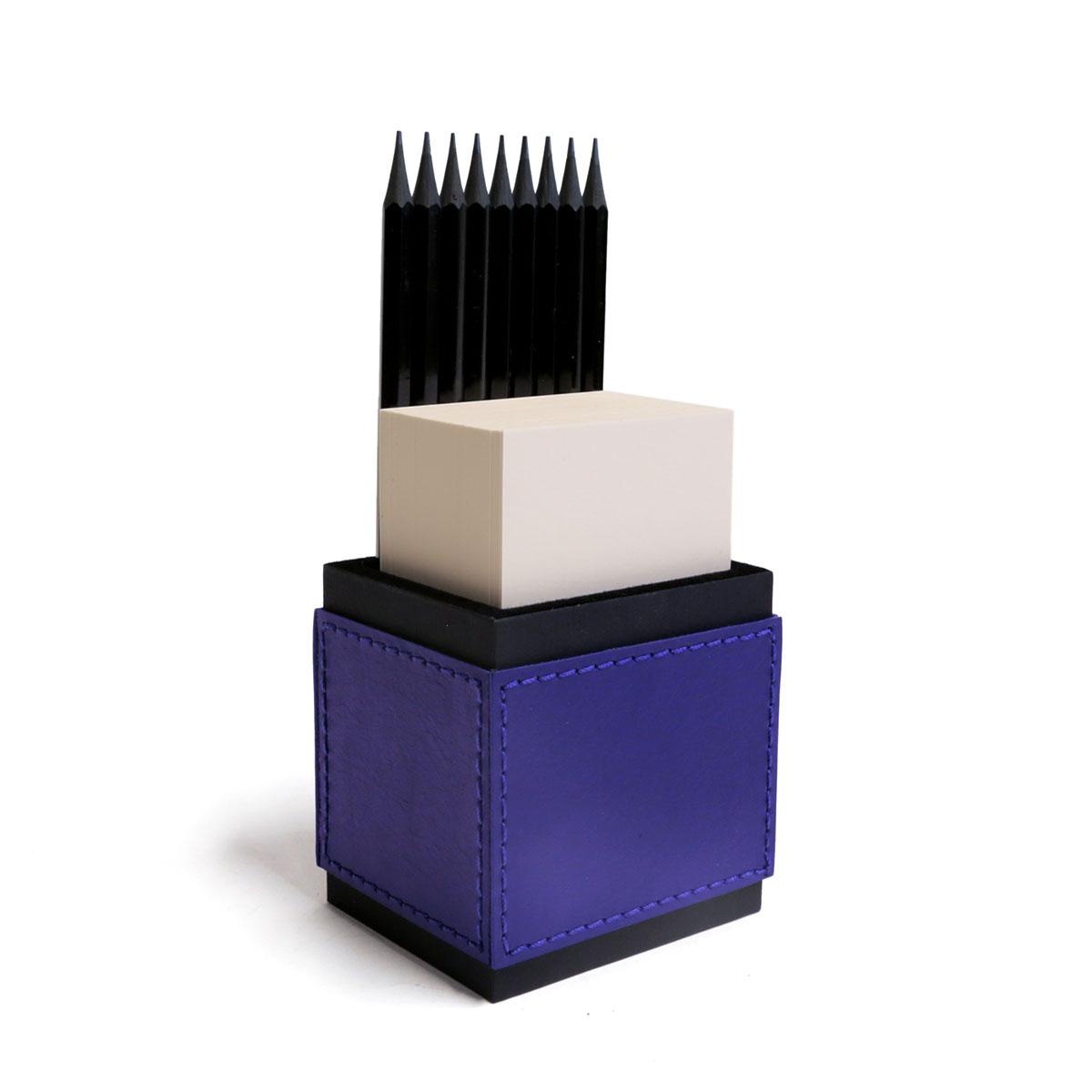 Porta lápis com bloco (Montana Azul Royal)