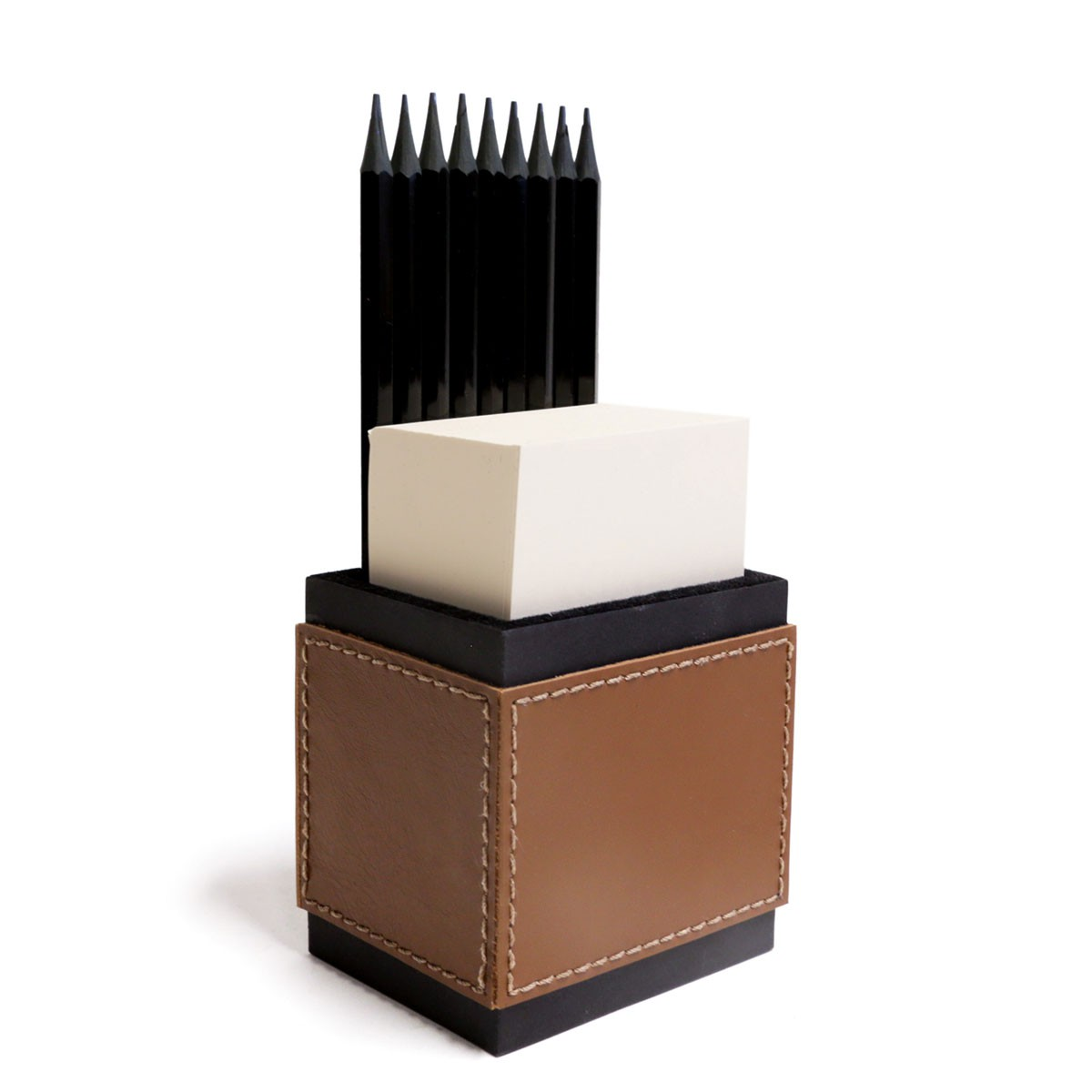 Porta lápis com bloco (Montana Havana)