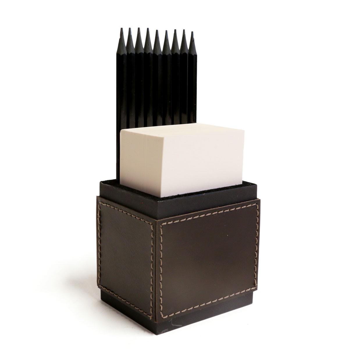 Porta lápis com bloco (Montana Marrom)
