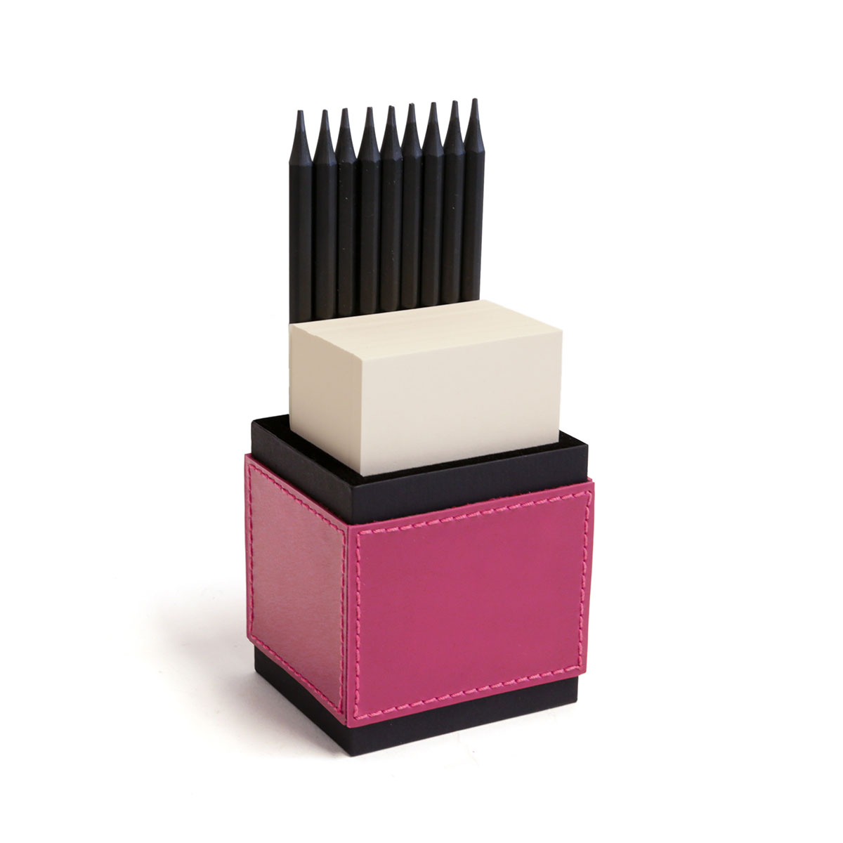 Porta lápis com bloco (Montana Pink)