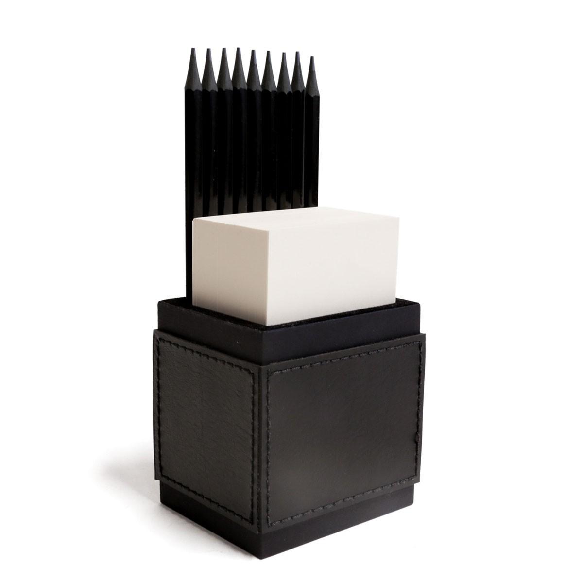 Porta lápis com bloco (Montana Preto)