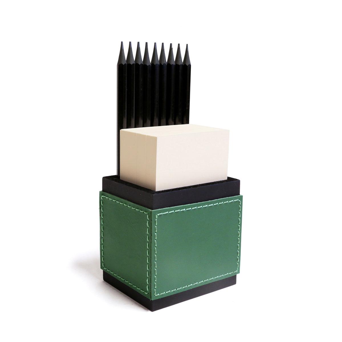 Porta lápis com bloco (Montana Verde Bandeira)