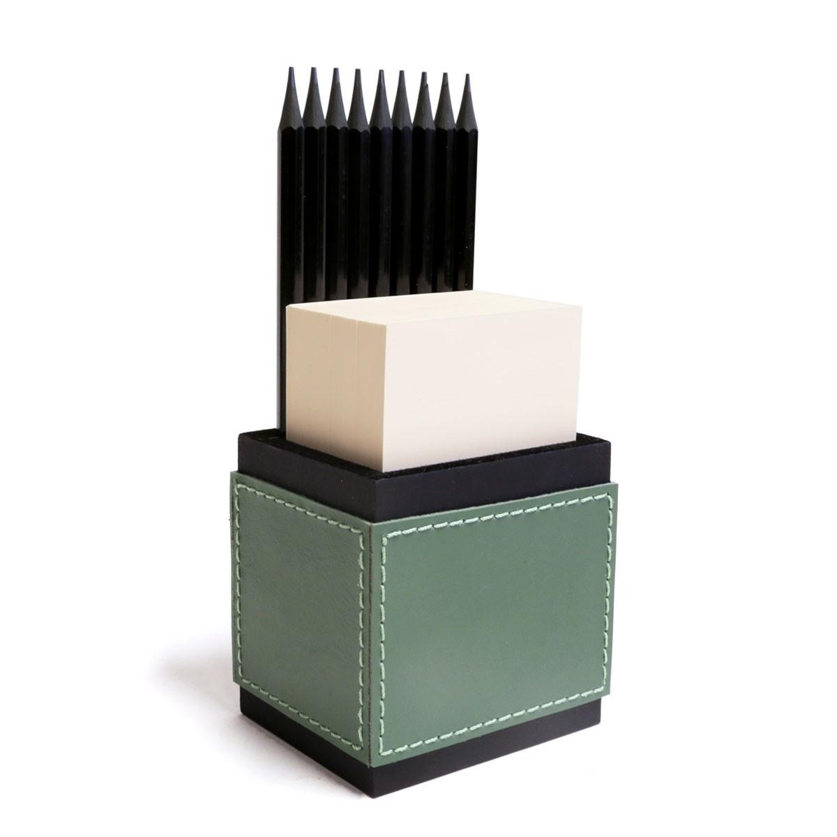 Porta lápis com bloco (Montana Verde Musgo)