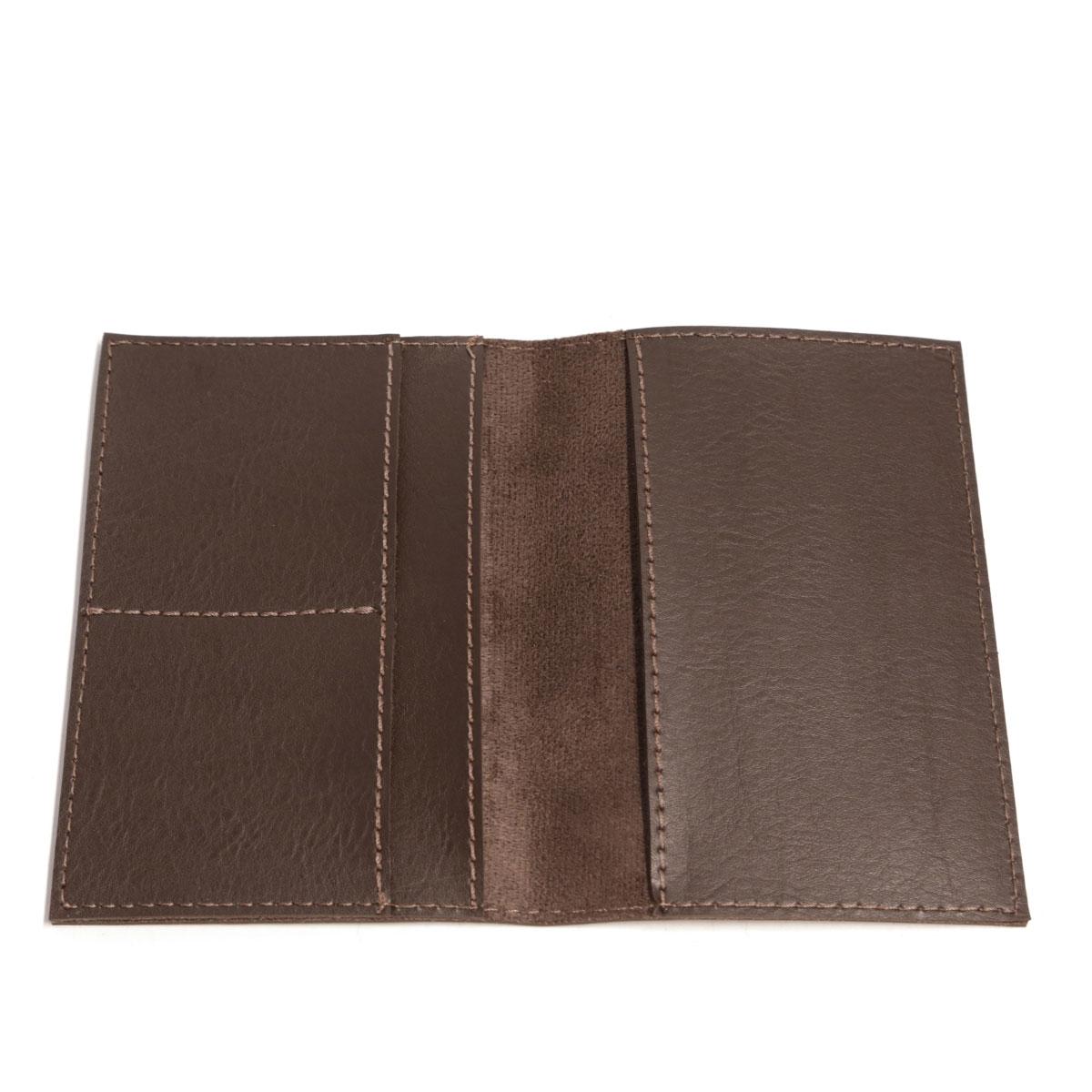 Porta passaporte com bolso (Montana Marrom)