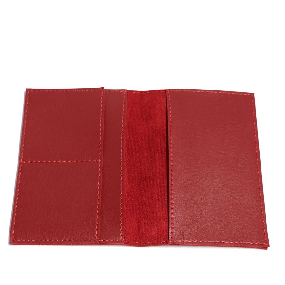 Porta passaporte com bolso (Montana Vermelho)
