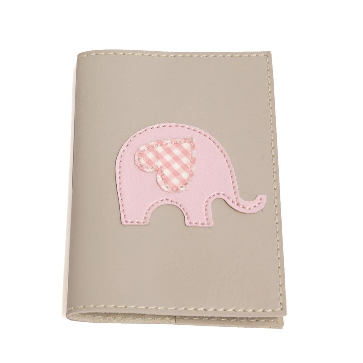 Porta passaporte (Elefante Rosa)