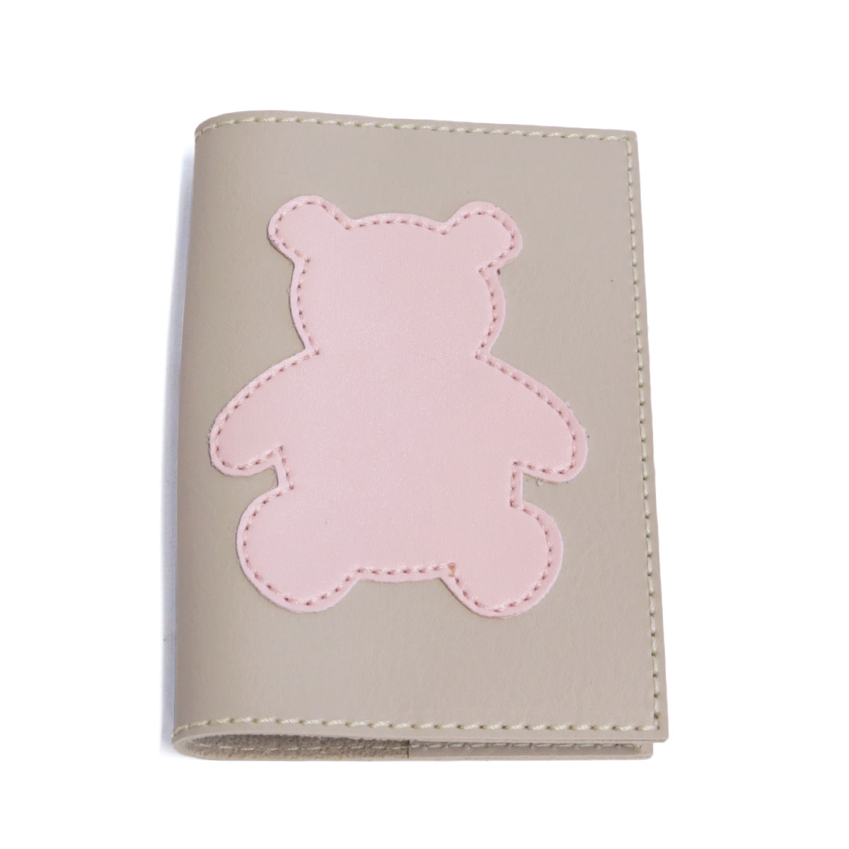 Porta passaporte (Urso Rosa)