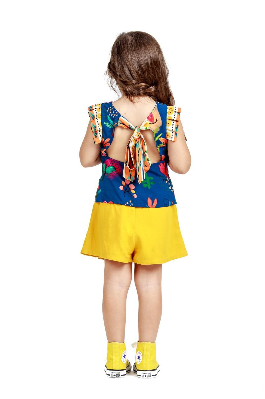 Blusa Infantil Turma do Balão Floral Botânico
