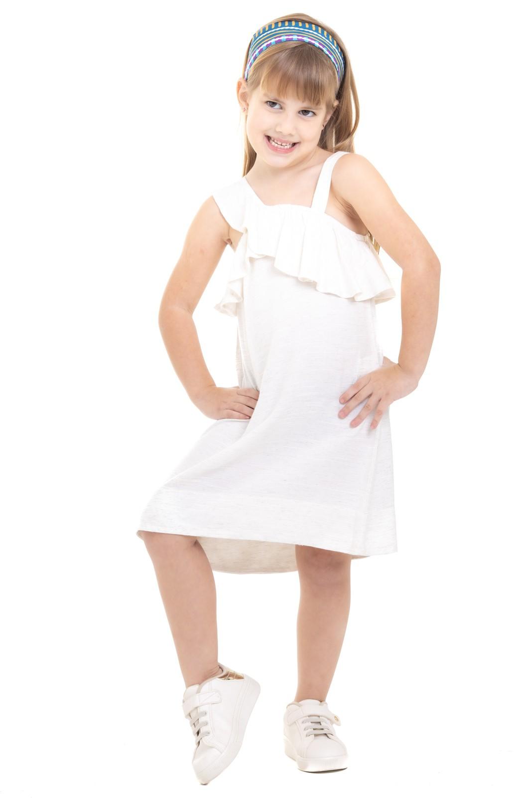 Vestido Infantil em Viscolinho
