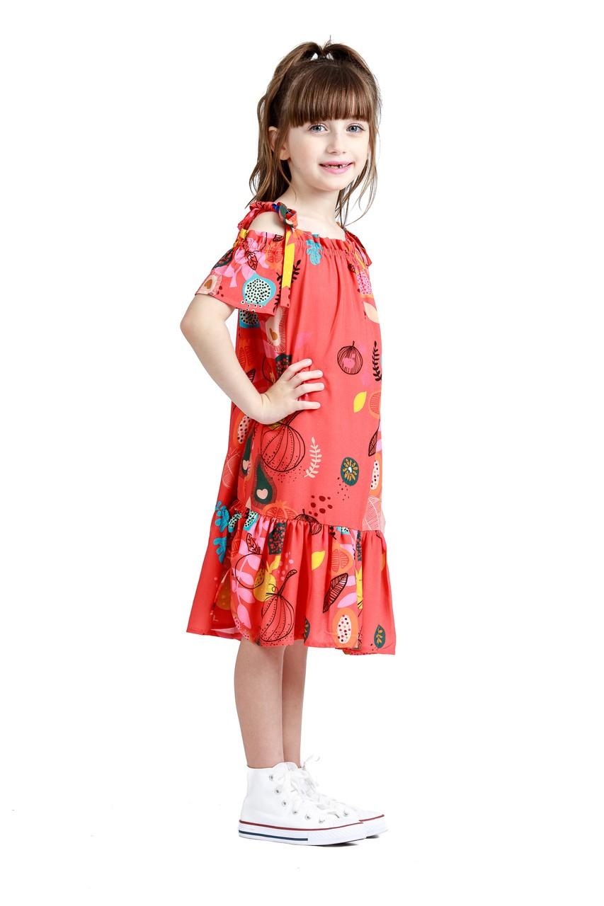 Vestido Infantil Turma do Balão Frutas