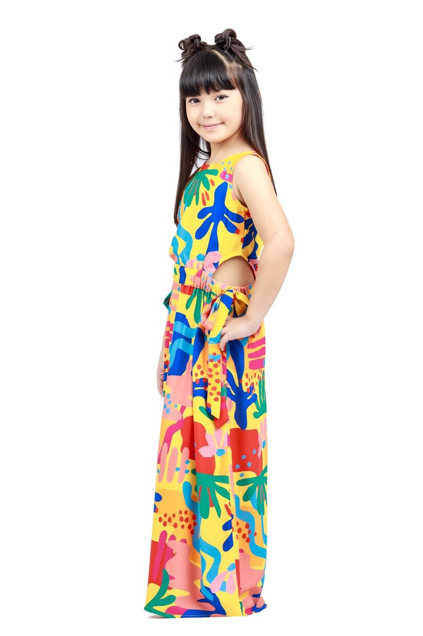 Vestido Infantil Longo Turma do Balão Belezas Naturais