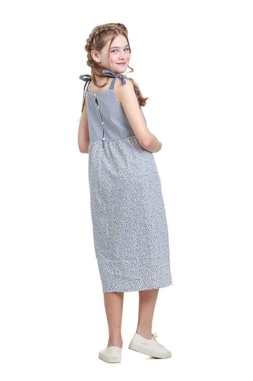 Vestido Infantil Midi em Tricoline