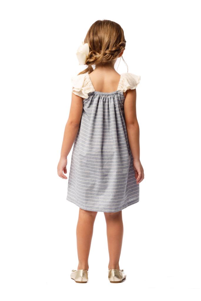 Vestido Infantil Pontilhado