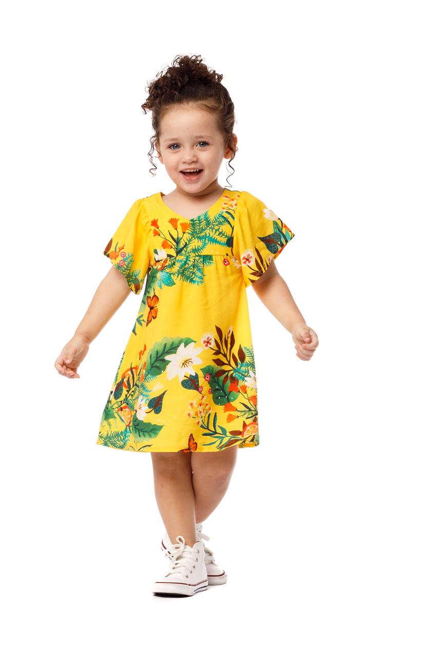 Vestido Infantil Turma do Balão Lima Limão