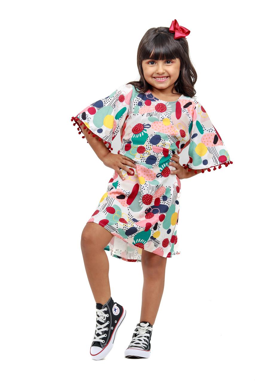 Vestido Infantil Turma do Balão Mundo Afora