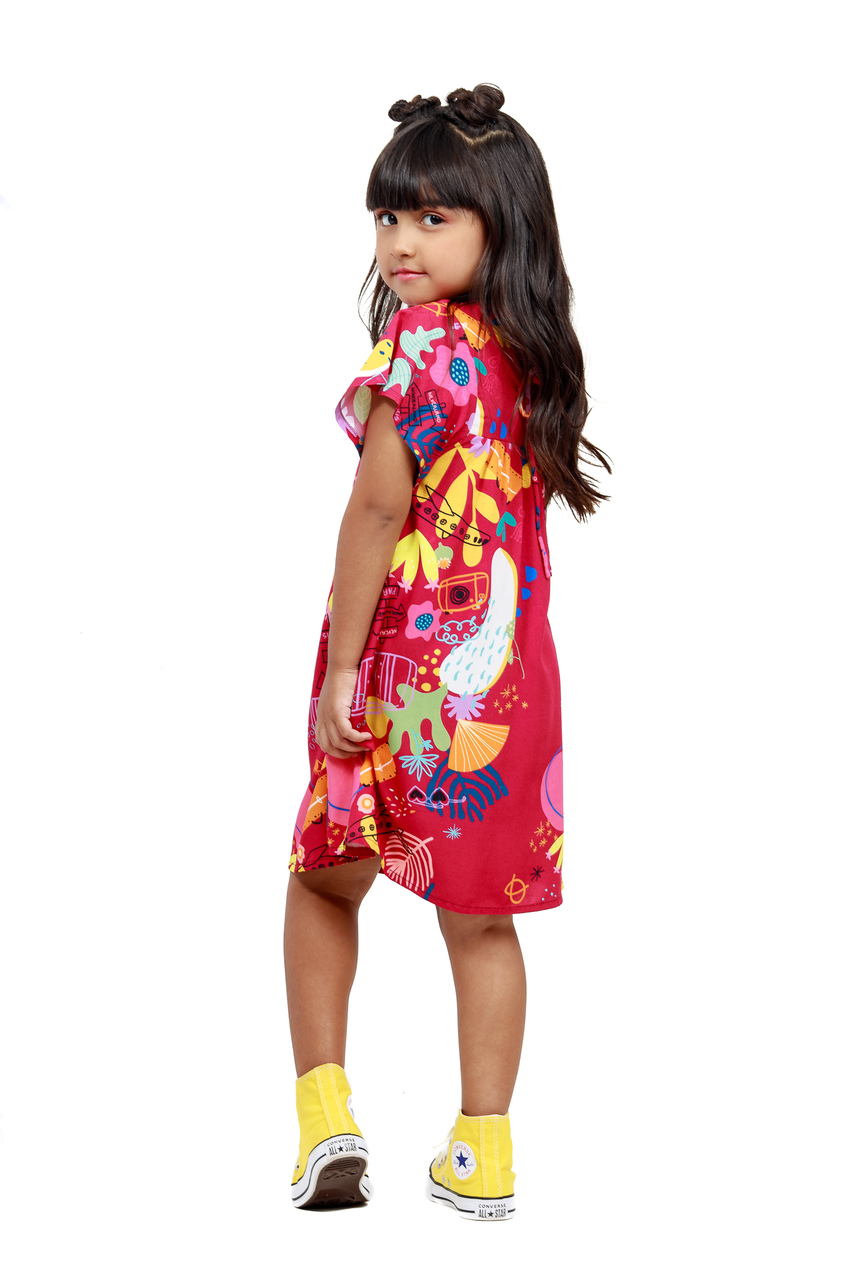 Vestido Infantil Turma do Balão Vai Pra Onde?