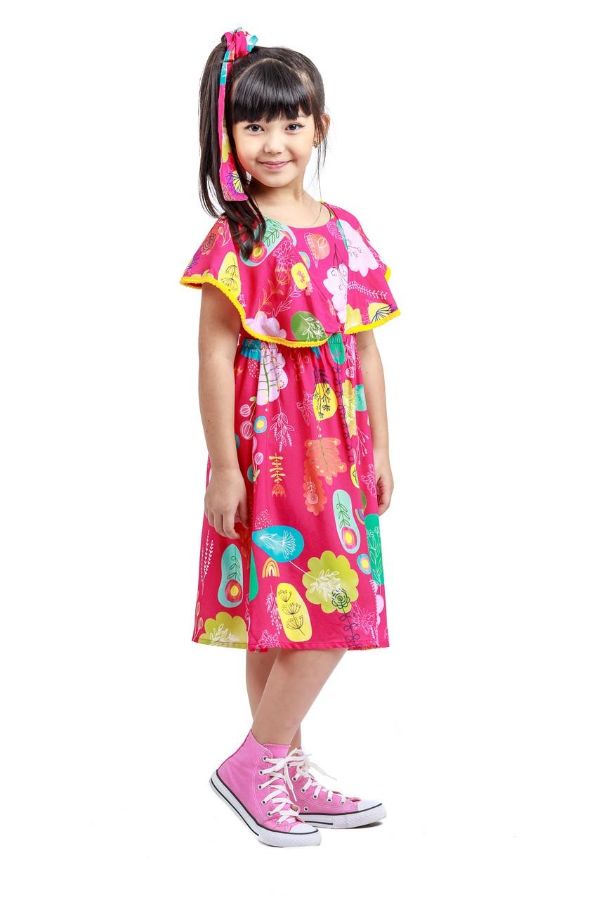 Vestido Midi Infantil Turma do Balão Floresta Viva