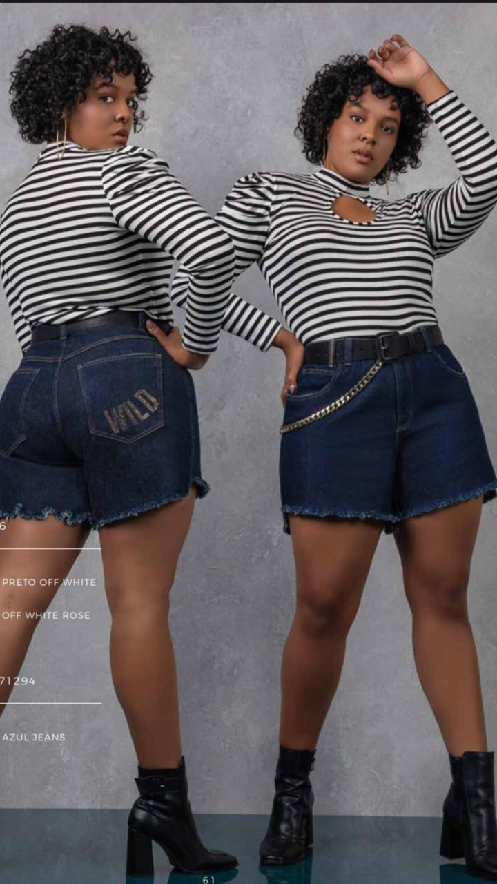 SHORTS  JEANS PLUS SIZE APACHE