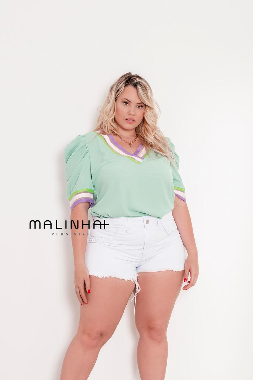 SHORTS PLUS SIZE JEANS BRANCO