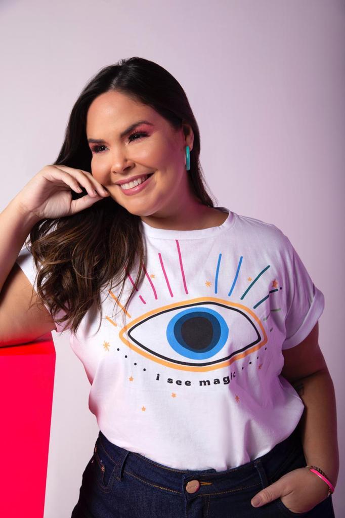 t-shirt plus size olho grego
