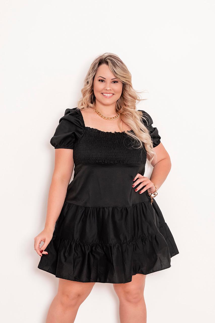 vestido plus size monica