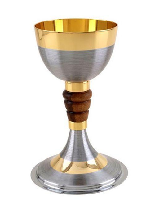 Cálice Com Patena 1119 Dourado Total - Miolo de Madeira