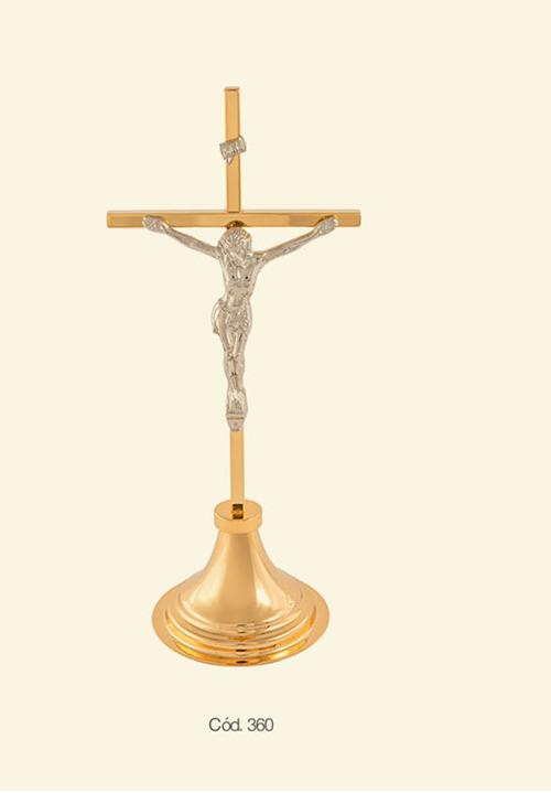Crucifixo - 33 cm - em Madeira São Bento Liso