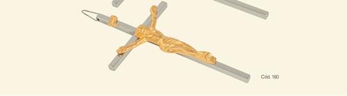 Crucifixo - 8 cm - em Madeira São Bento Liso