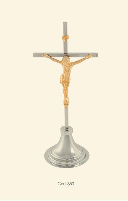 Crucifixo Bronze Grande de Mesa Altar 46x28