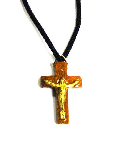 Cruz com Cordão Madeira Cristo