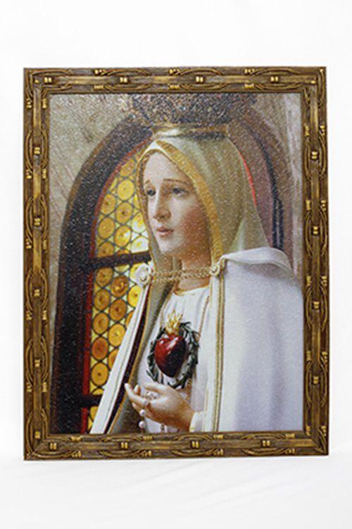 Quadro Nossa Senhora de Fátima 30x40 MR