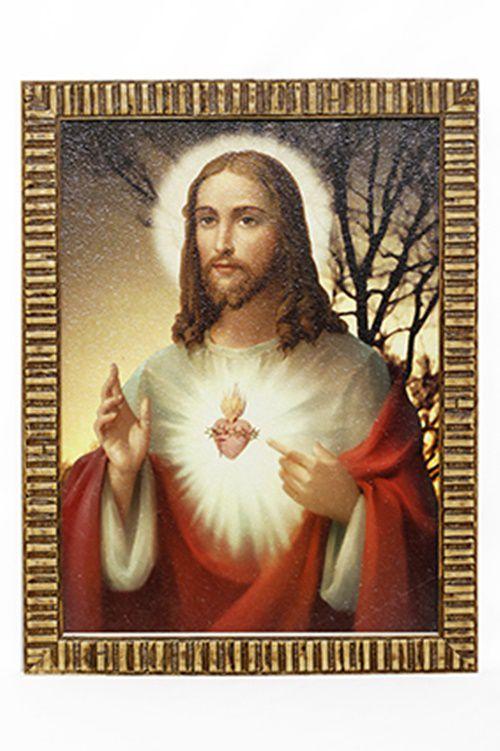 Quadro Sagrado Coração de Jesus 30x40 MR