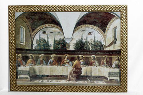 Quadro Santa Ceia Envelhecida 48x68 MR