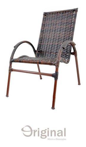 Cadeira de Área Ferro e Fibra Aruba Original Móveis