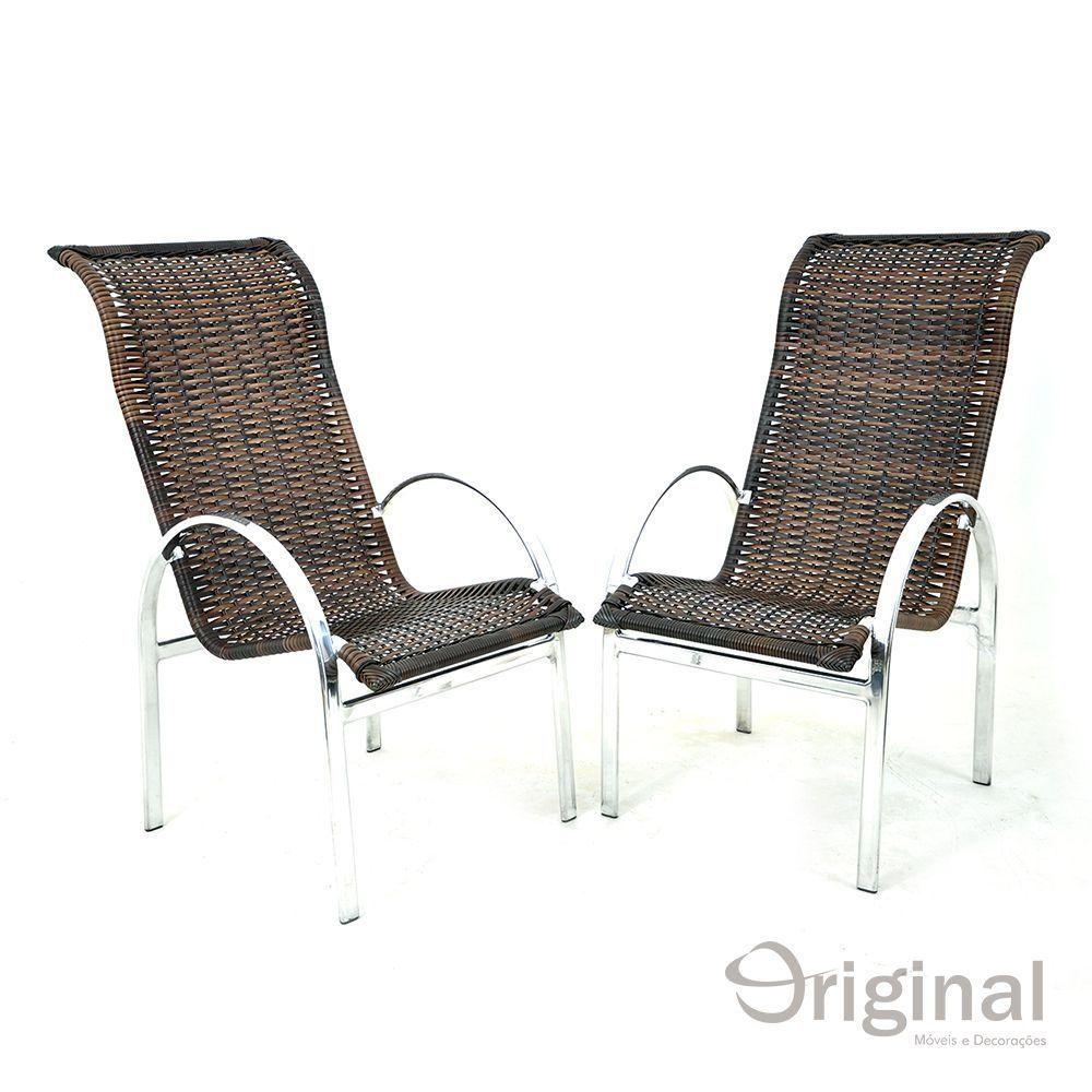 Cadeira de Área Alumínio e Fibra Alasca Original Móveis