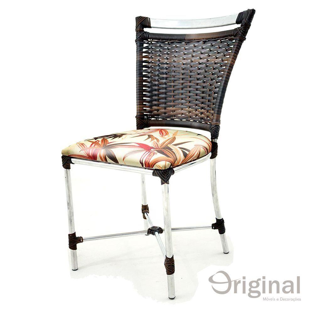 Cadeira de Área Alumínio e Fibra Austrália Original Móveis