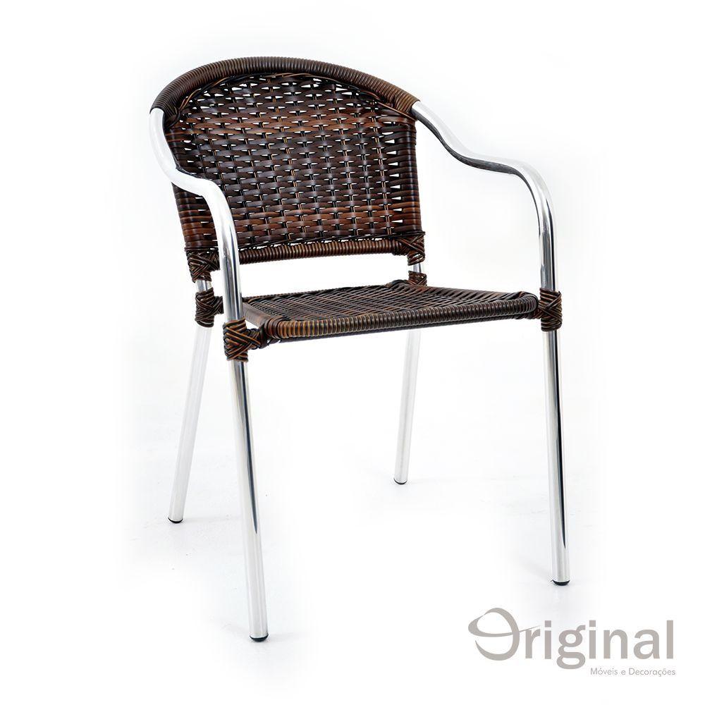 Cadeira de Área Alumínio e Fibra Chile Original Móveis