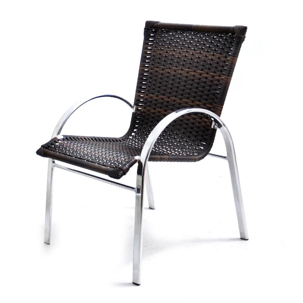 Cadeira Argentina - Alumínio e Fibra Original Móveis