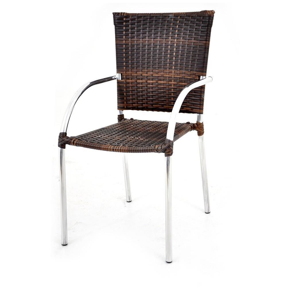 Cadeira de Área Alumínio e Fibra Polonia Original Móveis