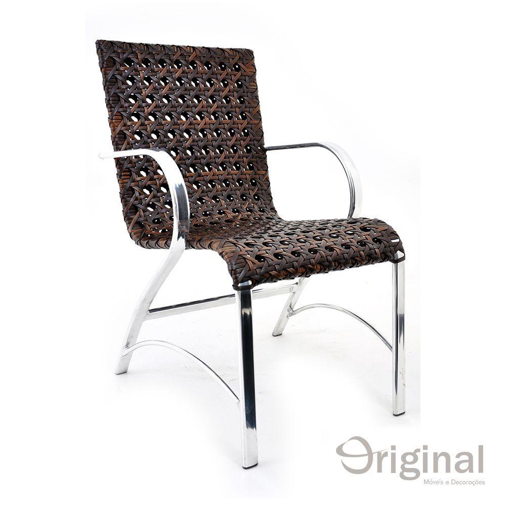 Cadeira de Área Alumínio e Fibra Haiti Original Móveis